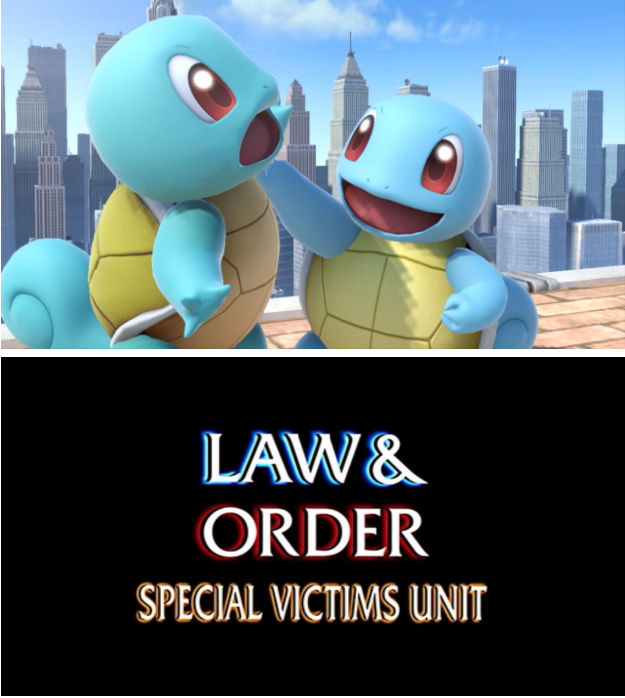 Squirtle was never right in the head - meme