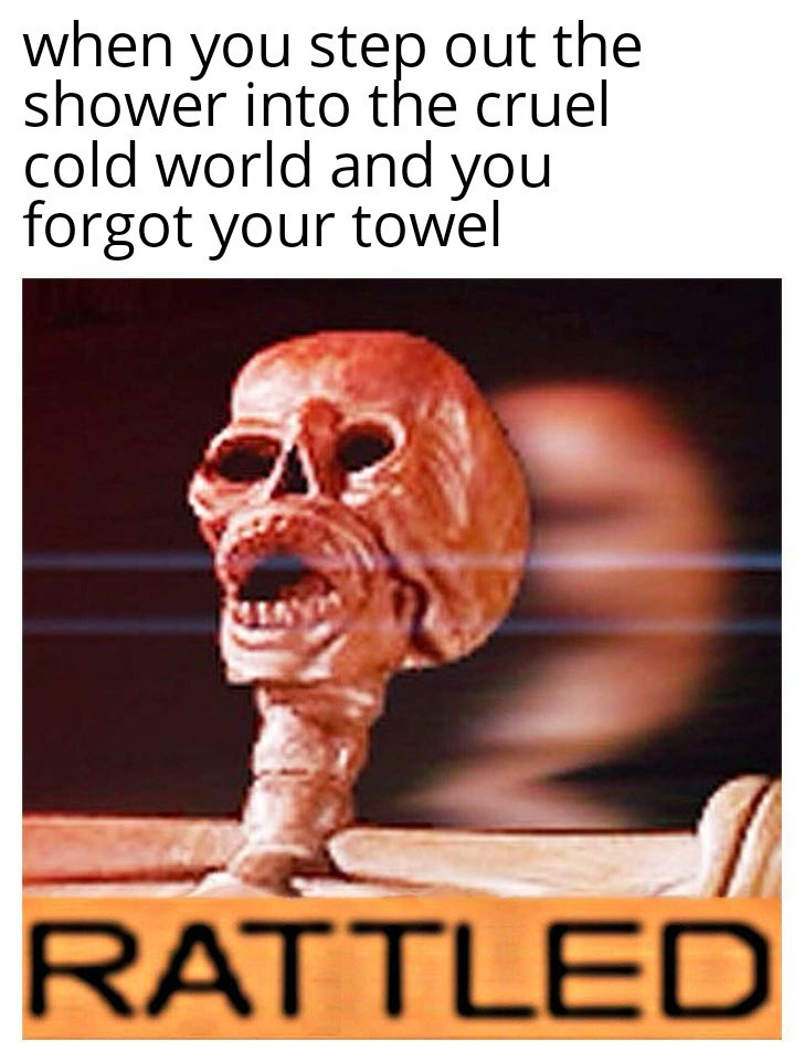 Even if you take a shower with hot water it's always cold when you get out - meme