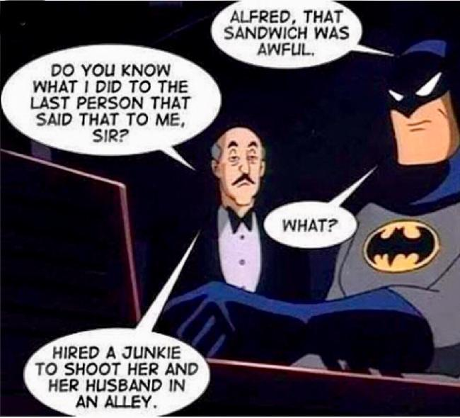 alfred made batman? - meme