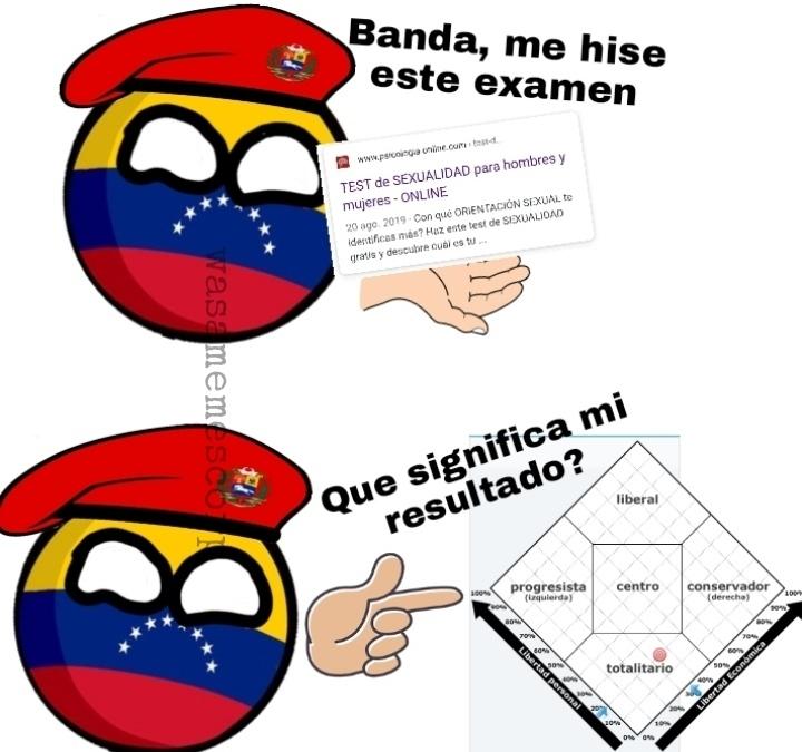 Creo que por eso los venezolanos estamos jodidos :D, en fin, deseenme suerte que mañana comienzo trabajo en la alcaldía - meme