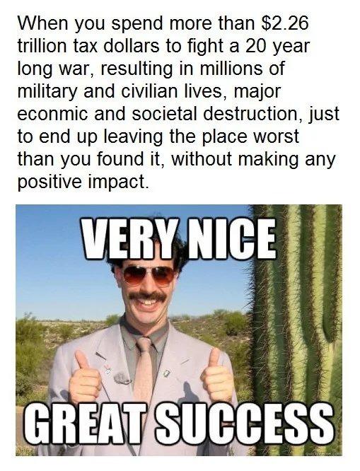 Taxpayers money go brrr - meme