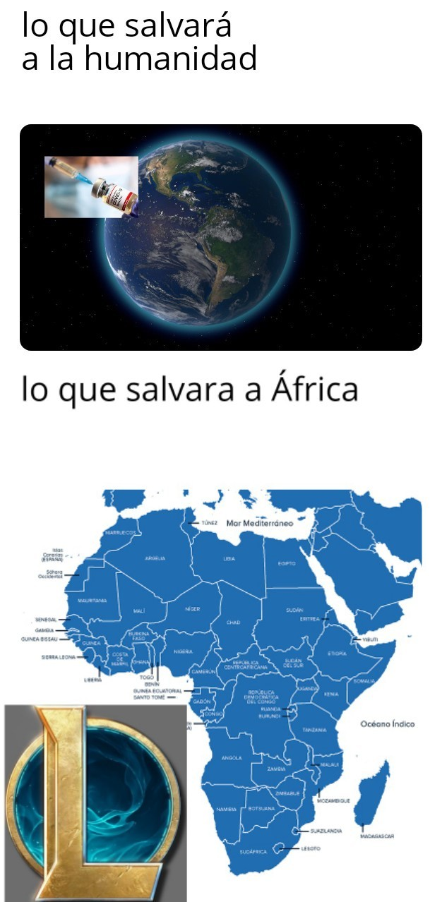Lol ayudará a África - meme