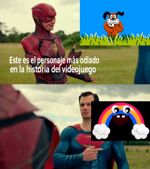 Perro puto vs Chica's Magic Rainbow - meme