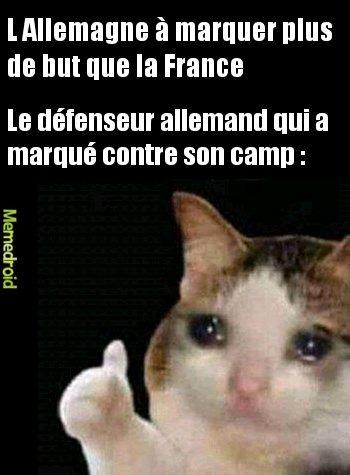 France 1-0 Allemagne - meme