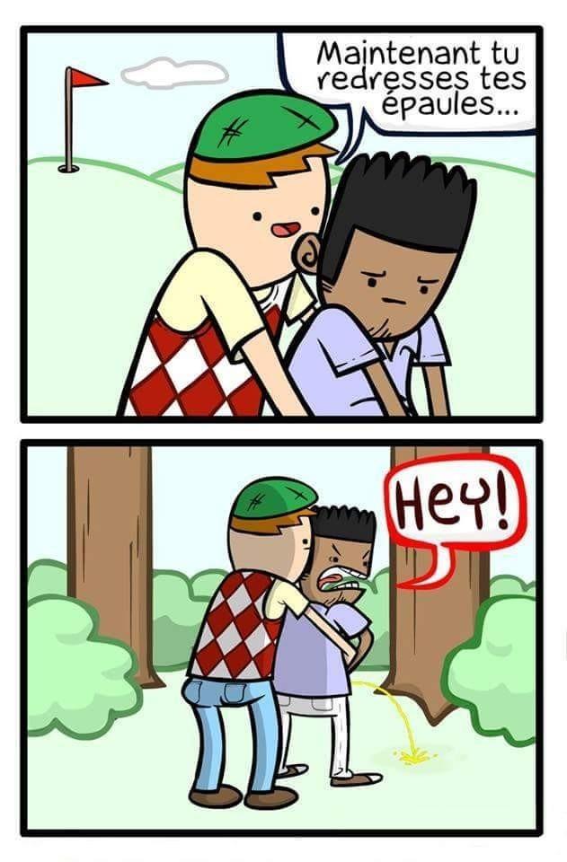 Un golf entre bro - meme