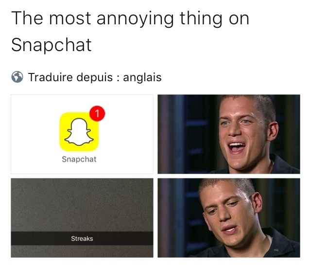 la pute sur snapchat - meme