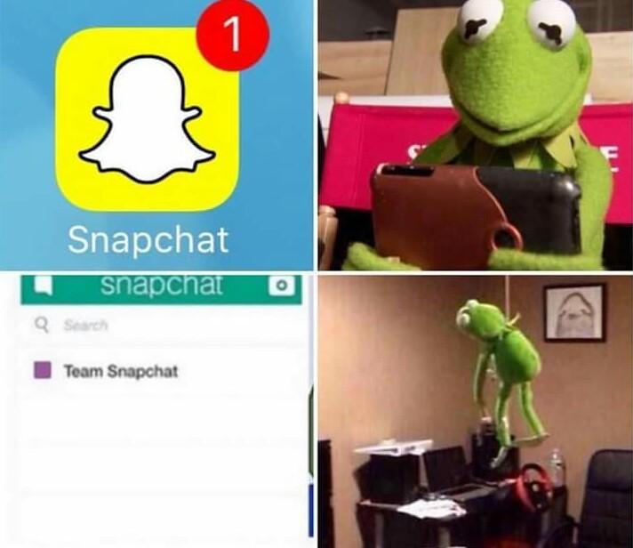 Team Snapchat... - meme