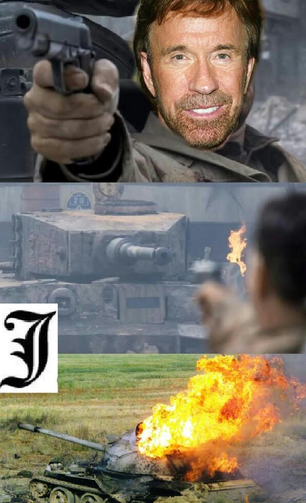 Obviamente gana Chuck Norris - meme