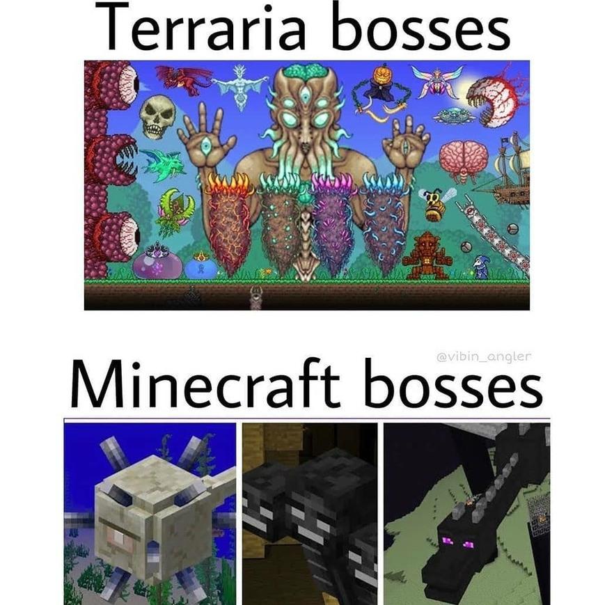 Avouez juste que Terraria c'est pas si mal - meme