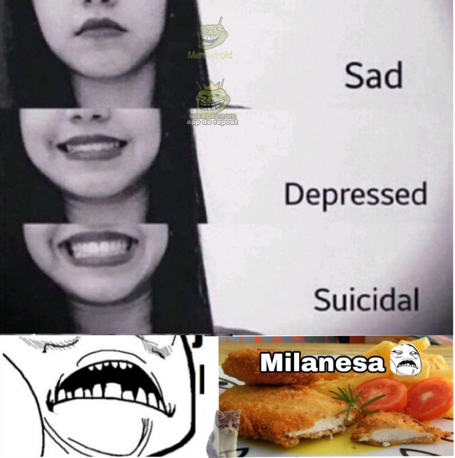 Milanesa de pollo :sweet: - meme