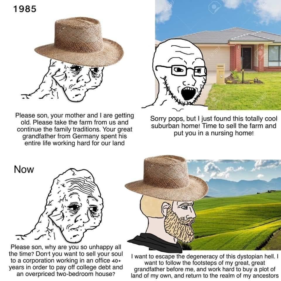 Abandon modernity, return to tradition - meme