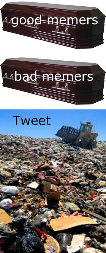 Tweets reposts are literally trash - meme