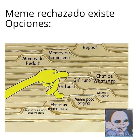 Opciones - meme