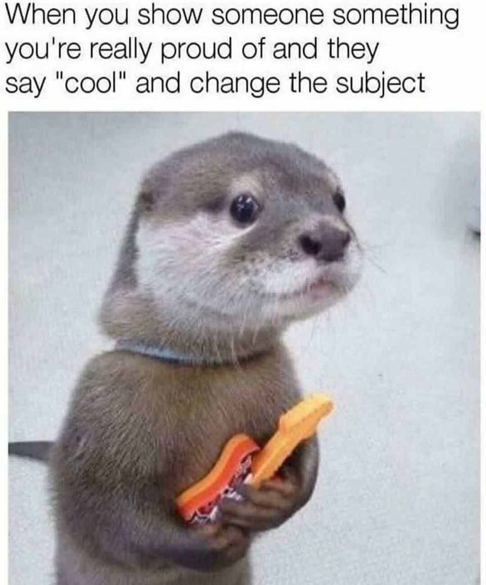 otters are my favorite animal - meme