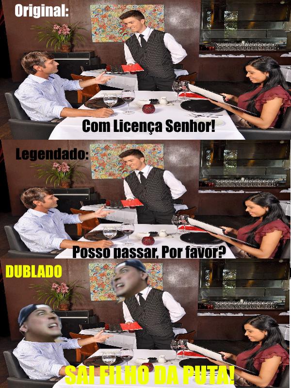 SAI FILHO DA PUTA - meme