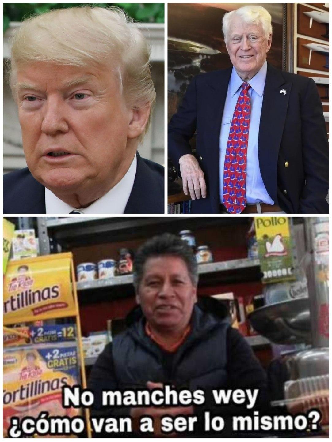 Donald Trump y William Koch - meme