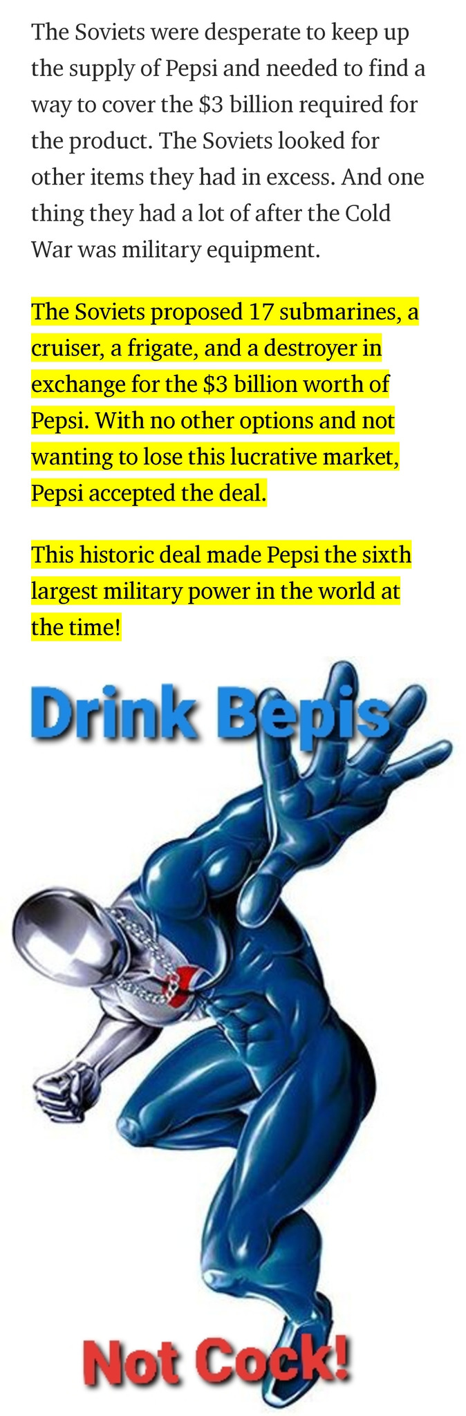 Drink Bepis not Cock - meme
