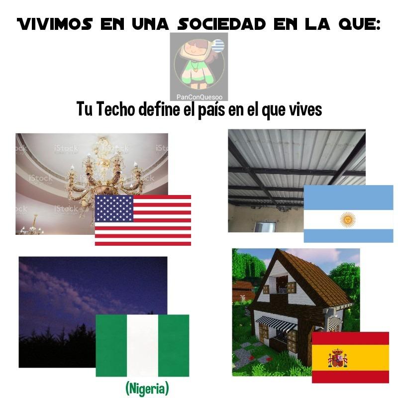 * inserte chiste hyper quemado de España = Minecraft * - meme