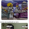 """Oí gente decir que """"Minecraft bedrock es de niños"""", a lo cual lo único que puedo responder es: .-. dx"""