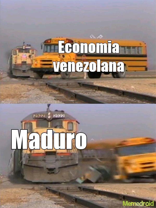 Venezuela getting hit by Maduro - meme