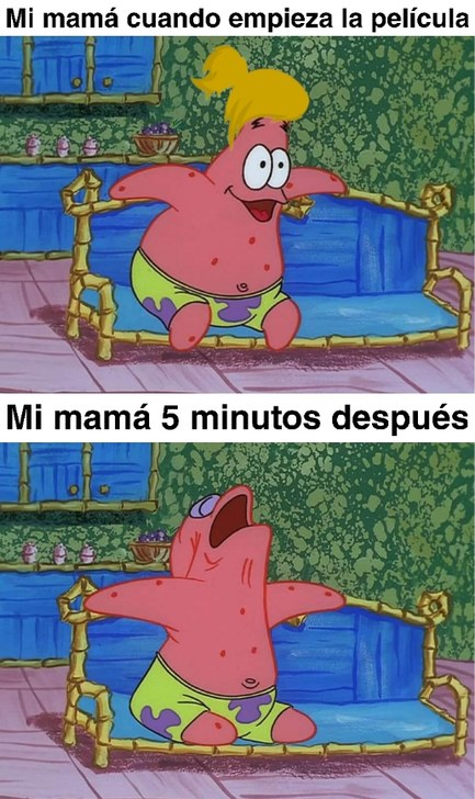 Mamá mira la película - meme