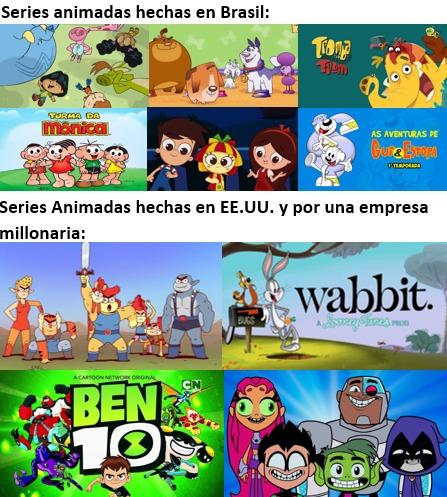 mierda de series animadas - meme