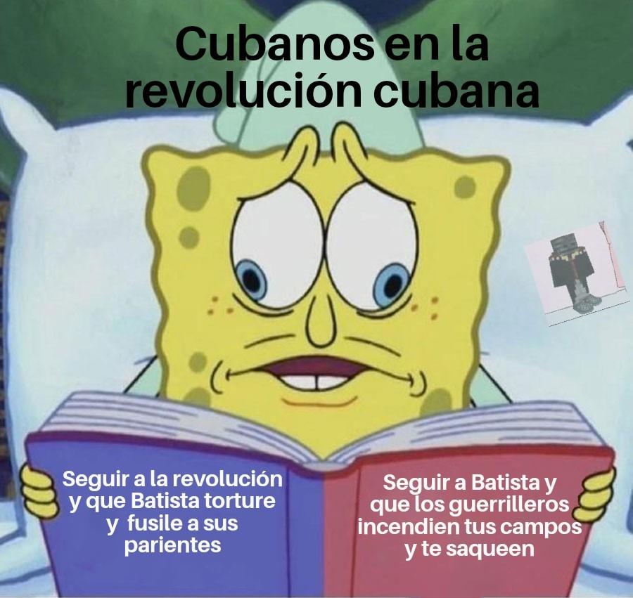 Segundo meme de la revolución Cubana que epico