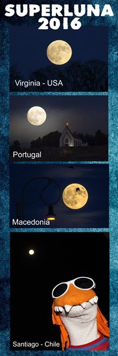 Super Luna en chile - meme