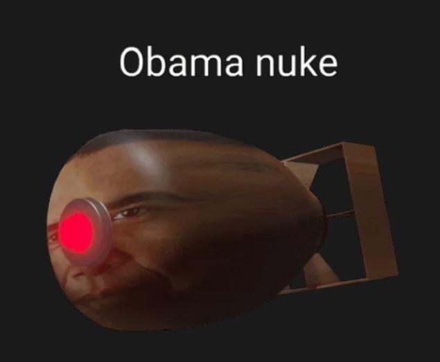 Obama nuke - meme