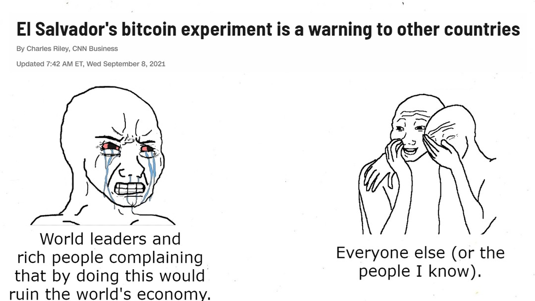 """""""Bitcoin is bad"""" rich people - meme"""