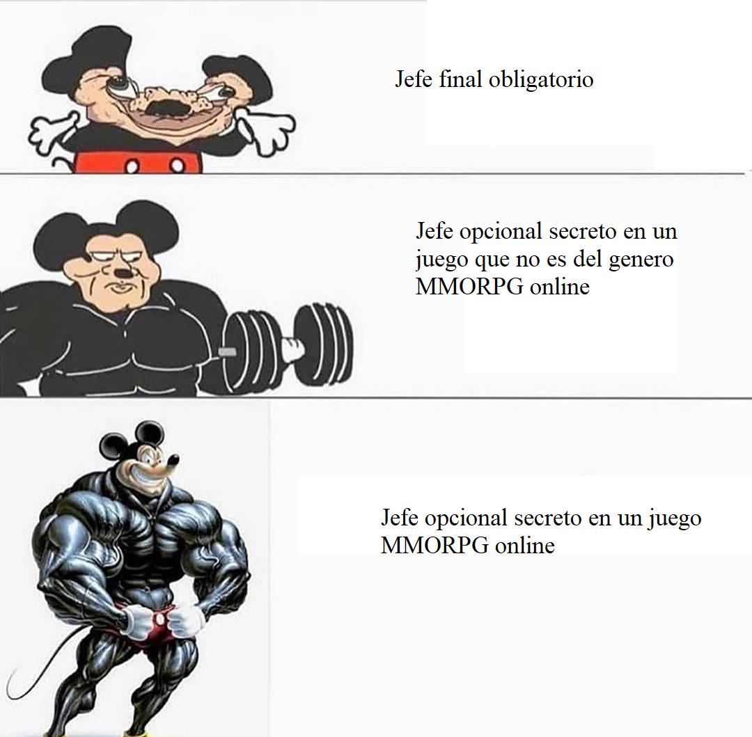 Dificultad jefes - meme