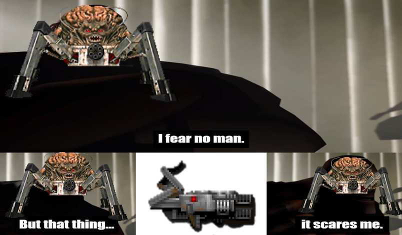 Esa cosa de unos 5 disparos lo mata. - meme